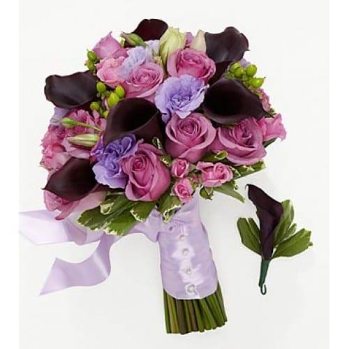 Lovely Lavender Bride Bouquet