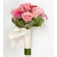 Pink Roses Wedding Bouquet