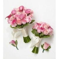 Maid of Honor Pink Bouquets