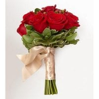 Red Roses Wedding Bouquet