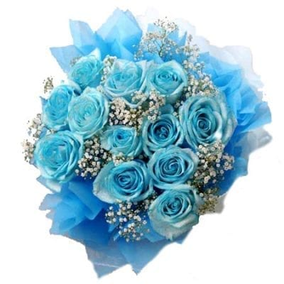 Blue roses bouquet - a heavenly gift for your loved ones on their birthdays