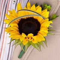 Boutonniere - sunflower