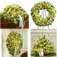 Funeral Flowers - Yellow Package