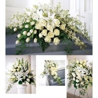 funeral flowers white.