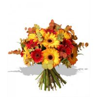 Autumn birthday wishes bouquet for the celebration of birthdays