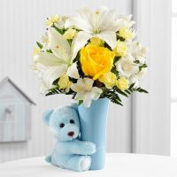 The Baby Boy Big Hug Bouquet. Same day delivery in GTA- Humber River Hospital North York - flower delivery Oshawa- Toronto flower delivery- florists Oshawa