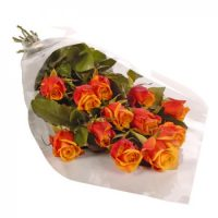 12 orange roses bouquet is the best floral gift, which you can present to your girlfriend of boyfriend to express your budding romantic feelings of love