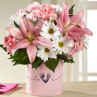 The FTD Tiny Miracle New Baby Girl Bouquet for you - Same Day delivery in GTA & Toronto Western Hospital - flower delivery Milton- Toronto flower delivery – Florists Milton- Yonge flower shop