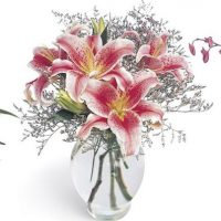 February flower arrangement for birthdays and other special occasions.