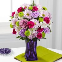 The Purple Pop Bouquet - Same Day Delivery in GTA & Humber River Hospital North York - Whitchurch-Stouffville flower delivery – flower delivery North York – Florists near me – Florists Toronto – Florists Canada