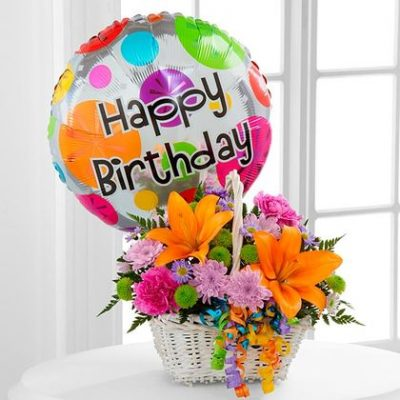 The happy birthday flowers bouque contains the stars of happiness.