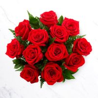 Red Roses Bouquet by GTA flower shop, Richmond Hill for Valentine's Day.
