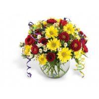 The birthday arrangement by Yonge flower shop, Richmond Hill,