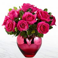 valentines roses bouquet is whimsical in its appearance for Valentine's Day.
