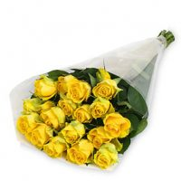 21 Stem Yellow Roses Bouquet- Same day DELIVERY- St. Joseph's Health Centre Hospital, Toronto - Etobicoke flower delivery