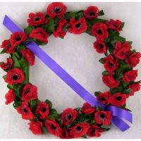 Poppy Remembrance Day wreaths