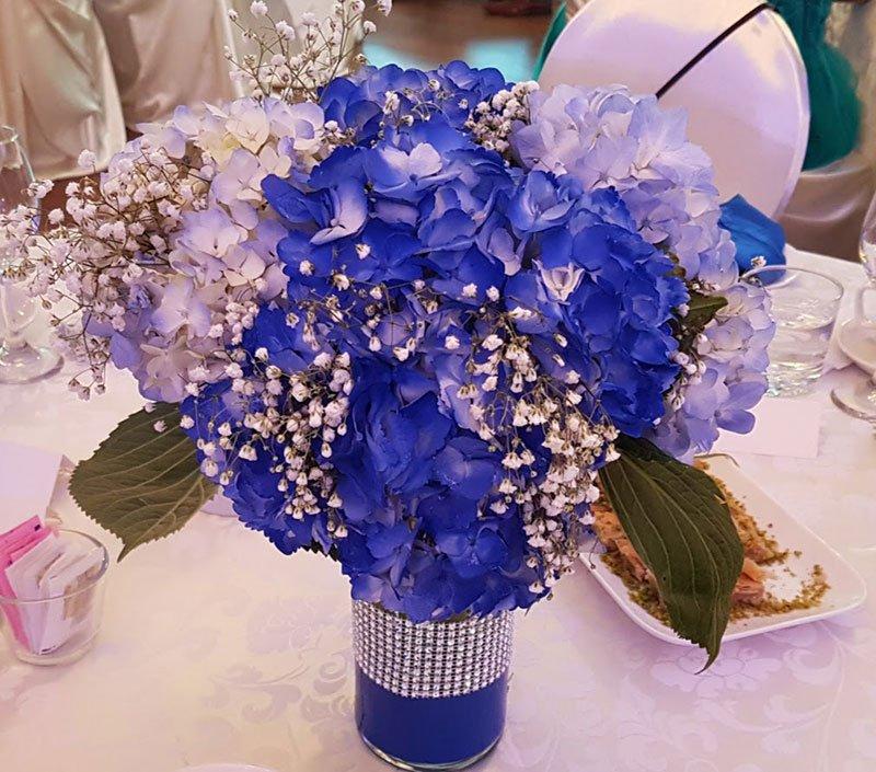 centerpieces blue