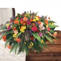 Elegant Casket Spray Funeral Flowers